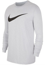 Nike Long Sleeve Tee Mens Small or 2XL Authentic Dri Fit Cotton Swoosh Training