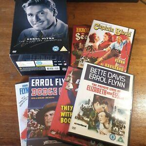 Errol Flynn DVD Complete Box Set Region 2 Europe VGC 6 DVD Collection