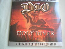 DIO Holy Diver - Live 3 x LP g/fold sleeve red vinyl 2013 NEW SEALED