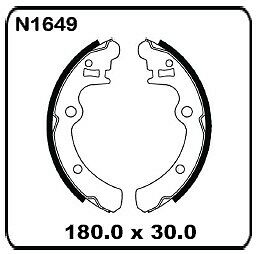 fits Subaru Leone 4WD 1985 onwards REAR Drum Brake Shoe SET N1649