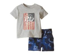 NWT Ralph Lauren Baby Boys Graphic T Shirt & Camouflage Shorts Set