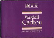 Vauxhall Carlton Mk 3 1986-87 Original UK Owner's Handbook 1.8 1.8i 2.0i 2.3D