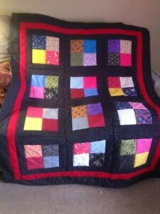 Hand made lap size Quilt,abstract four patch blocks