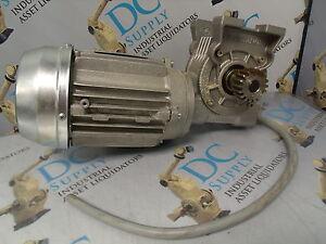 BONFIGLIOLI RIDUTTORI VF44 N P63B14 46:1 GEAR REDUCER W/ T63A4 .18 HP 3 PH MOTOR