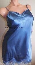 6x blue short nightgown SATIN CHEMISE/SLIP LINGERIE (4077 plus size 6x