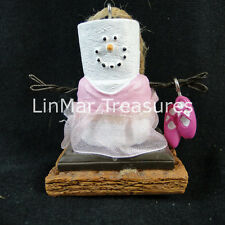 S'mores Ballerina Ornament in Pink Tutu Pink Slippers Midwest CBK