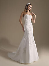 Formal Wedding Dress Bridal Ball Gown  Private Label BY G #1479 Ivory SZ 16 NEW