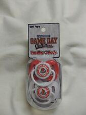 Louisville Cardinals U of L Infant Baby Pacifiers 2 Pack Team Colors New