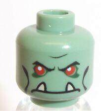 Lego Troll Warrior Head x 1 Sand Green for Minifigure