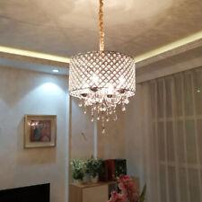 28W LED Ceiling Pendant Lamp Fixture Adjustable Hanging Light Crystal Bedroom