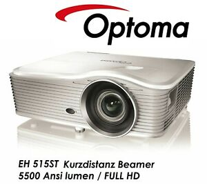 OPTOMA EH515ST Kurzdistanz 1920x1080p FULL HD 5000 Ansi Lumen Tageslicht Beamer
