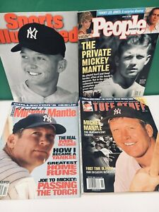 1995 SPORTS ILLUSTRATED, PEOPLE, TUFF STUFF - MICKEY MANTLE Cover (4) LOT