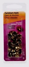 HILLMAN Upholstery Tacks Furniture Nails #9 Hammered Antique Brass 25 Pcs 122680