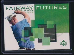 2003 Upper Deck Golf Fairway Futures Shirt Relic Craig Perks