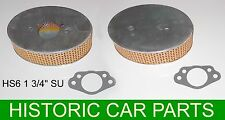 "Triumph TR4A 2138 1965-67 - 2 AIR FILTERS & GASKETS for 1¾"" SU HS6 Carburettors"