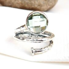 925 Sterling Silver Citrine Ring, Amethyst, Crystal Quartz Solitaire Rings-S046