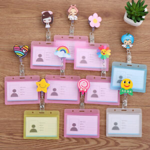 with Retractable Reel Business Work Card Badge Holders ID Badge Holder