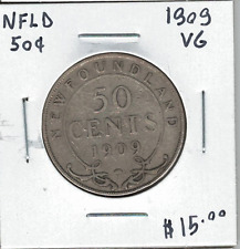 Canada Newfoundland NFLD 1909 Silver 50 Cents VG