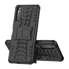 For Sony Xperia 10 II Case AMZER Warrior Dual Layer Cover with Stand