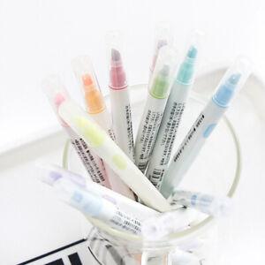 12* Marker Pens  Headed Fluorescent Pen Art Highlighter Drawing Kid New