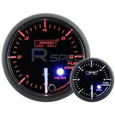 Prosport 52mm Clear Amber White Car Fuel Pressure Gauge BAR Peak Warning