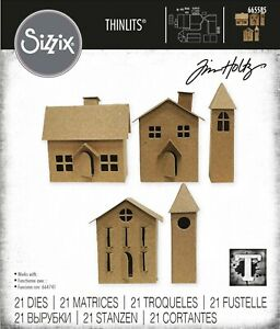 Sizzix Thinlits Paper Village #2 21PC set #665585 Retail $22.99 by Tim Holtz
