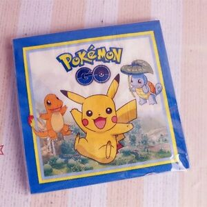POKEMON PIKACHU NAPKINS BIRTHDAY PARTY 20 PACK DECORATIONS LOOT LOLLY TABLE