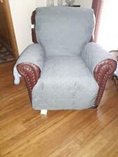 Recliner/chair protective cover, reversible, grays
