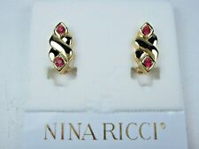 Earrings with Swarovski Crystals 1544 Nina Ricci Gold Plated Clip-on