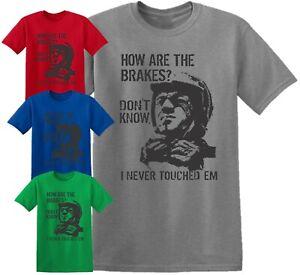 Steve McQueen How are the breaks T shirt Classic Motorcycle MotorBike Kids Men