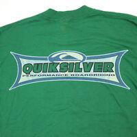 Vtg 90s Deadstock Quiksilver T-Shirt sz LARGE USA Made Surf Skate Longboard NOS