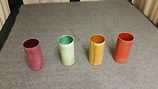 Set of 4 N&C Vintage Multi-colored Solid Aluminum Drinking Cups Tumblers