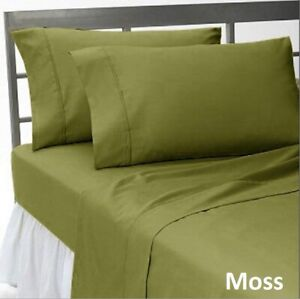 Bedding Collection Choose Item 1000 TC Egyptian Cotton UK Sizes Moss Solid