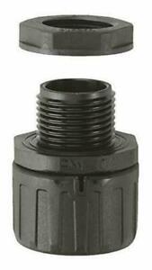 (2er Pack) Schutzschlauch-Fitting/Polyamid schwarz/Größe 42/M40x1,5