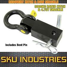 Recovery Hitch 4WD 5T Rated Off-Road with Bent Pin and Yellow Pin Bow Shackle