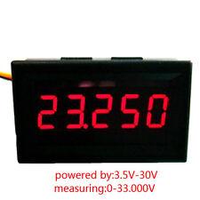 Red LED 5 Digit DC 0-4.3000-33.000V Digital Voltmeter Voltage Meter Car Panel LG