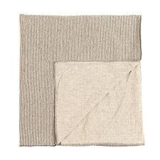 1 + In The Family Jersey Blanket Melange Effect Striped & Cross Pattern