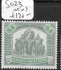 MALAYA FMS (P3110B) ELEPHANT $1.00  SG 23  MOG