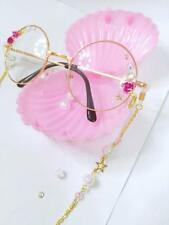 Japanese Vintage Harajuku Sweet Lolita Star Moon Gothic Chain  DIY Glasses New