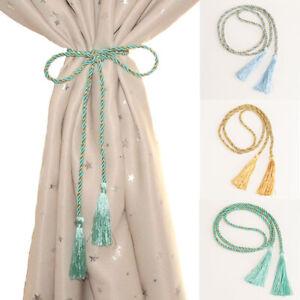 Curtain Hold backs Rope Tie Backs Tassel Tiebacks Living Room Bedroom Decorate