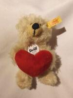 Steiff 901256 Teddy Bär Charly mit Herz ca. 12 cm Neu siehe auch  Fotos