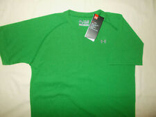 UNDER ARMOUR HEAT GEAR SHORT SLEEVE GREEN LOOSE FIT T-SHIRT BOYS LARGE