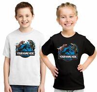 Personalised Kids T-shirt, Add Your Name Dinosaur Jurrasic Park Child T-Shirt