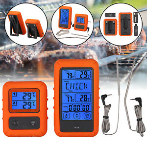 Digital BBQ Meat Thermometer Wireless Barbecue Remote Grill Cooking Food Probe