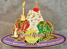 Hard Rock Cafe JAKARTA 2001 HAPPY BIRTHDAY PIN Ice Cream Plate HRC Catalog #3772