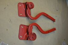 69 70 MUSTANG  FASTBACK TRUNK PAIR HINGES ORIGINAL FORD AND VERY NICE, W/INSERTS