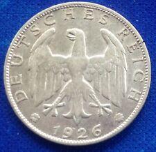 Deutsches Reich Germany 1 Mark Reichsmark 1926 A - KM# 45