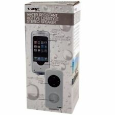 Vibe Sound VS-292 Water-Resistant Active Lifestyle Stereo Speaker - White