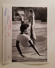 Glossy Press Photo Hudson MA High Jump David Boisvert 5-14-87