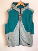 Under Armour UA Men's Pursuit Safari Sleeveless Hoodie Vest - Large (L) - Teal